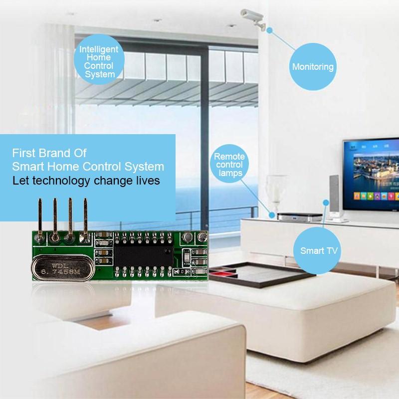 超外差带解码3-5V无线发射接收模块YET205B