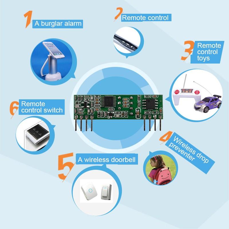 超外差带解码3-5V无线发射接收模块YET206