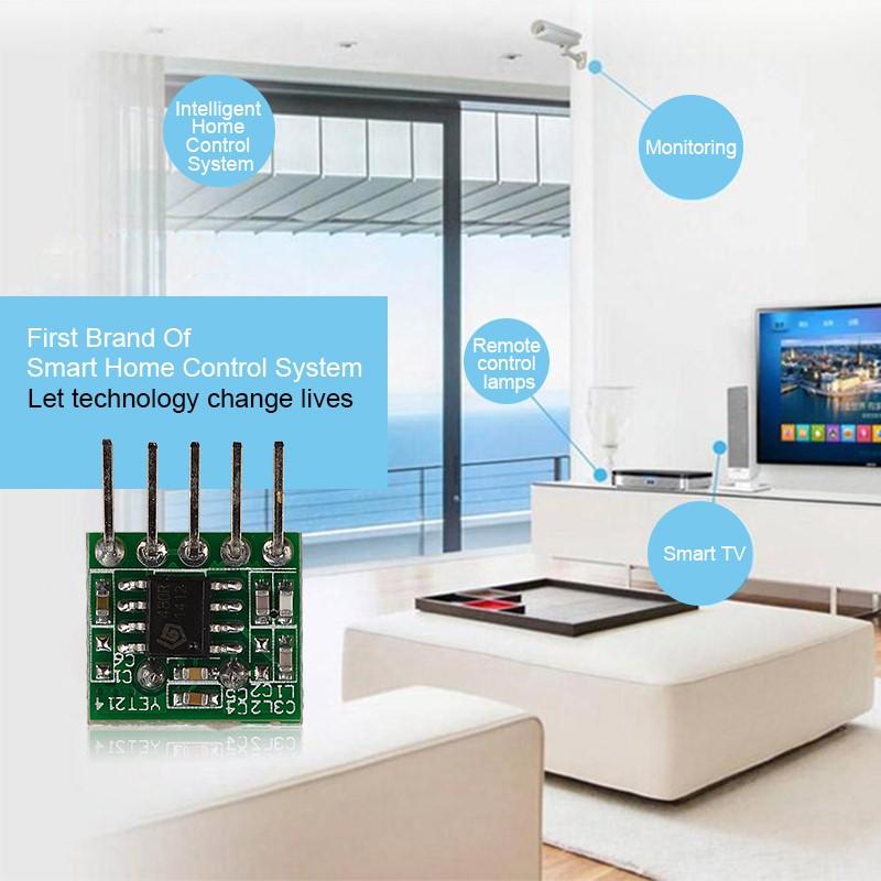 超外差带解码3-5V无线发射接收模块YET214