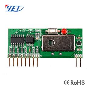 无线发射接收模块YET218超外差带解码屏蔽罩3-5V