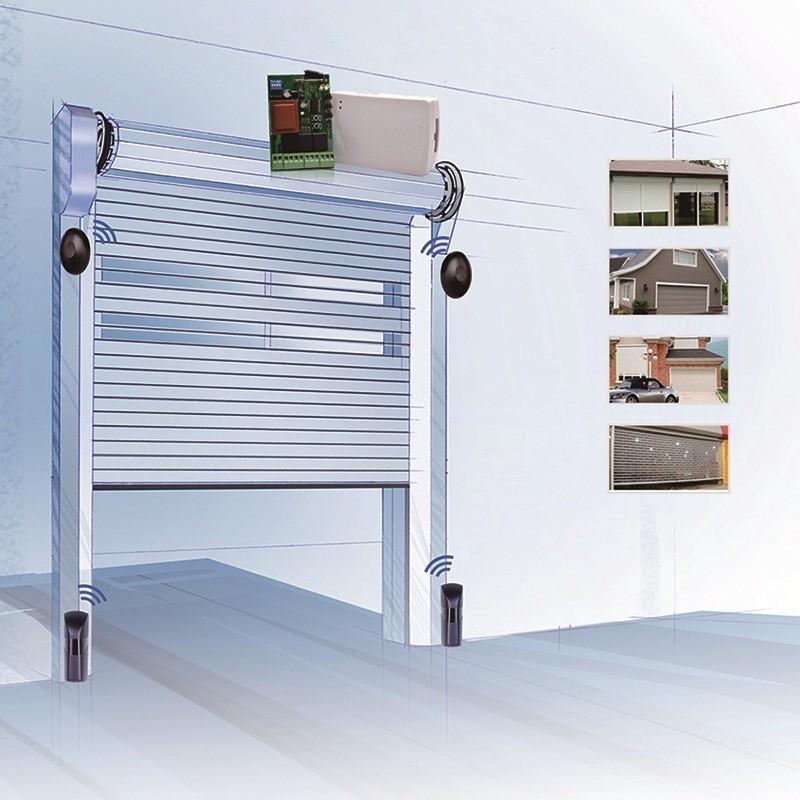 智能防盗报警传感器可用于卷帘门上。