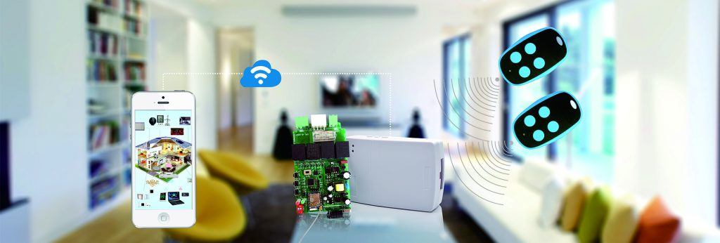 遥尔泰wifi卷帘门电机控制器YET866PC 2.0应用
