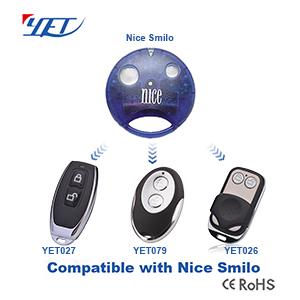 与国外品牌NICE SMILO兼容的RF无线遥控器